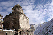 Leh - Friday, Dec 08 2006: A stupa in the Rumbak Valley in Hemis National Park. (Photo by Peter Horrell / http://www.peterhorrell.com)