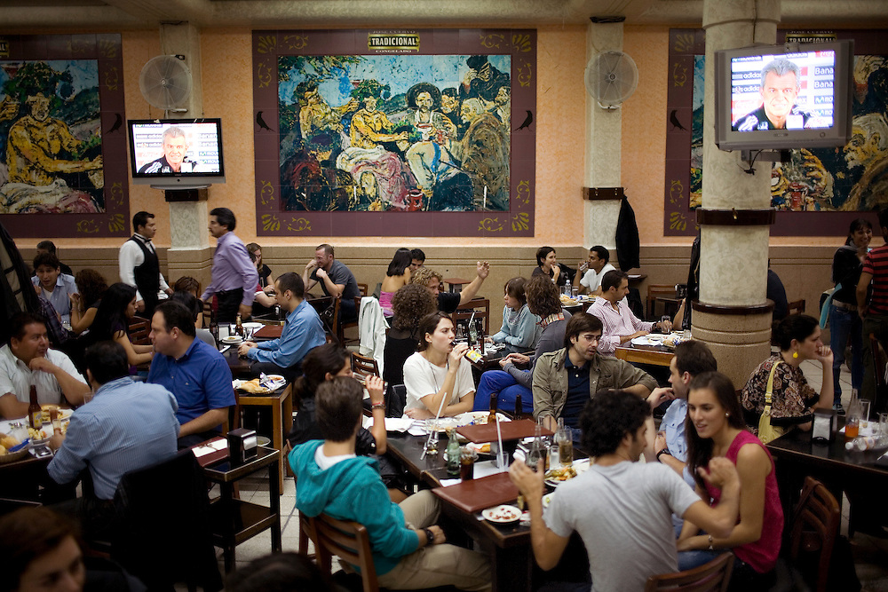 Inside the Covadonga Bar in Colonia Roma Norte in Mexico City.