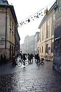 Street in winter, Krakow, Poland