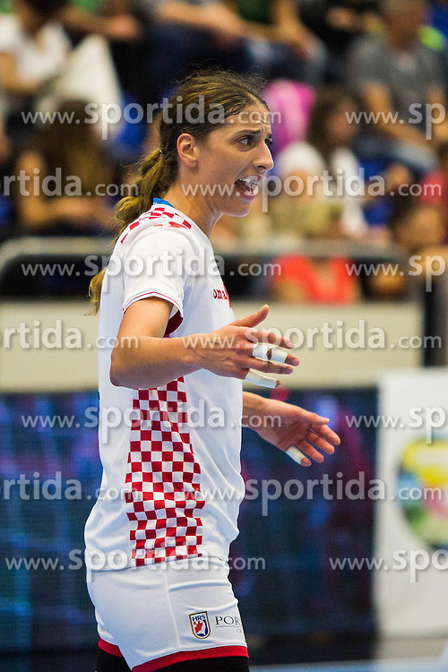Andrea Penezic of Croatia during handball match between Women national teams of Slovenia and Croatia in Round #5 of Qualifications for Women's EHF EURO 2016 Championship in Sweden, on June 1, 2016 in Arena Golovec, Celje, Slovenia. Photo by Ziga Zupan / Sportida