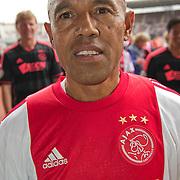 Amsterdam, 03-07-2013. Oud-Ajaxied Sjaak Swart wordt 75 jaar en krijgt een jubileumwedstrijd in het Olympisch Stadion te Amsterdam. Vele oud-Ajax gedienden waren uitgenodigd. Mr. Ajax - Sjaak Swart maakte deel uit van oud-Ajax elftal. Foto: Simon Tahamata.