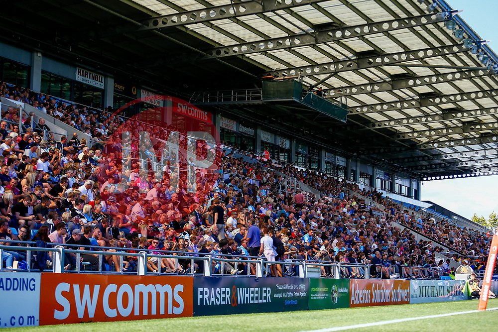 Exeter fans enjoy the game from the main stand at Sandy Park - Ryan Hiscott/JMP - 09/09/2018 - RUGBY - Sandy Park - Exeter, England - Exeter Braves v Bath United, Premiership Rugby Shield