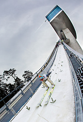 03.01.2014, Bergisel Schanze, Innsbruck, AUT, FIS Ski Sprung Weltcup, 62. Vierschanzentournee, Training, im Bild Tom Hilde (NOR) // Tom Hilde (NOR) during practice Jump of 62nd Four Hills Tournament of FIS Ski Jumping World Cup at the Bergisel Schanze, Innsbruck, <br /> Austria on 2014/01/03. EXPA Pictures © 2014, PhotoCredit: EXPA/ JFK