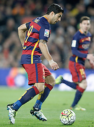 02.04.2016, Camp Nou, Barcelona, ESP, Primera Division, FC Barcelona vs Real Madrid, 31. Runde, im Bild FC Barcelona's Luis Suarez // during the Spanish Primera Division 31th round match between Athletic Club and Real Madrid at the Camp Nou in Barcelona, Spain on 2016/04/02. EXPA Pictures © 2016, PhotoCredit: EXPA/ Alterphotos/ Acero<br /> <br /> *****ATTENTION - OUT of ESP, SUI*****
