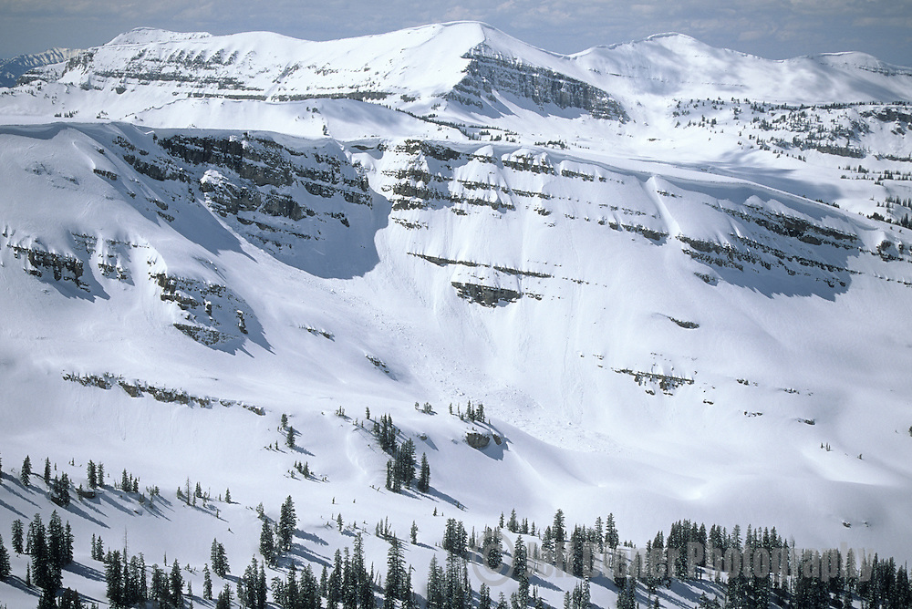 The Jackson Hole backcountry in winter, Jackson Hole, Wyoming.