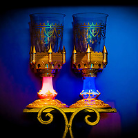 LAKE BUENA VISTA, FL -- November 17, 2012 -- Light-up chalices sit for sale in the New Fantasyland expansion at Walt Disney World in Lake Buena Vista, Florida on Saturday, November 17, 2012.  The New Fantasyland expansion is the largest since the park's opening and features Enchanted Forest with The Little Mermaid and Beauty and the Beast themed-attractions plus Storybook Circus , which puts a Disney spin on the American circus.(PHOTO / CHIP LITHERLAND for TIME)