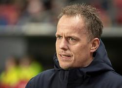 Cheftræner Jakob Michelsen (OB) under kampen i 3F Superligaen mellem FC København og OB den 16. december 2019 i Telia Parken, København (Foto: Claus Birch).