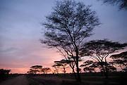 Sunset over the Omovalley, Turmi,Ethiopia,Africa