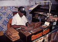 Havana Cuba, hand rolling cigars