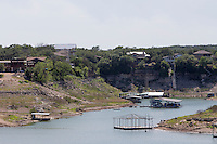 Low water boat houses, Lake Travis