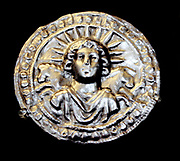 Silver leaf disc dedicated to the sun-god Sol. Roman, 3rd century AD From Pessinus (Bala-Hissar, Asia Minor)