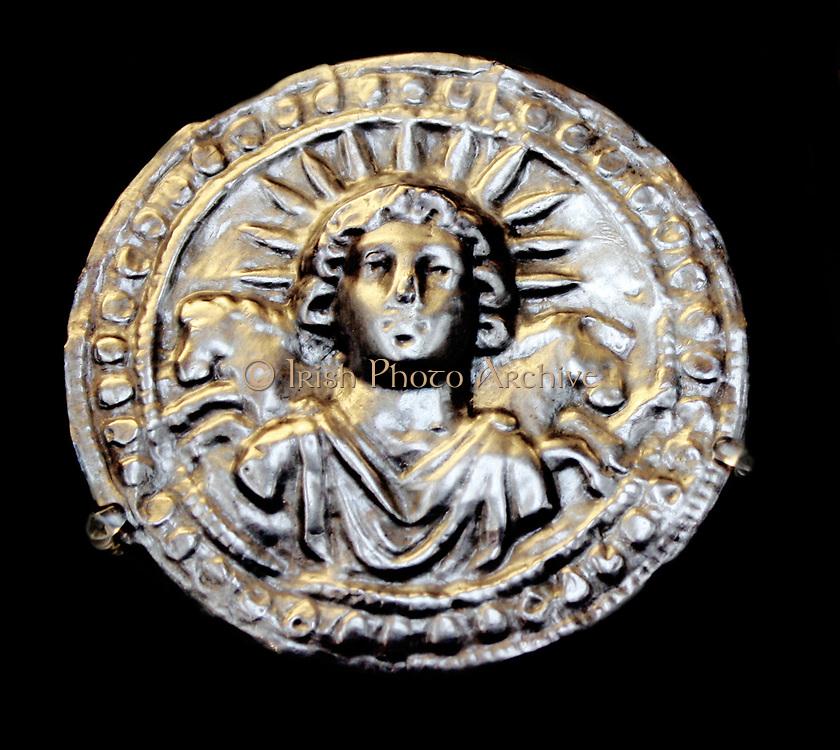 Silver leaf disc dedicated to the sun-god Sol. Roman, 3rd century AD From Pessinus (Bala-Hissar, Asia Minor)