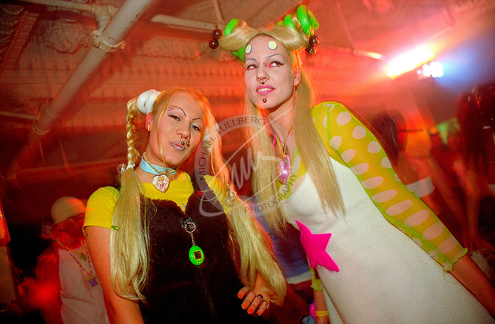 The Toy Ladies, two of the most prominent fashionistas in the 1990s rave scene.