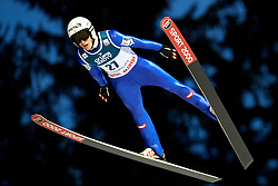 Poland, Zakopane - 2018 January 28: Timi Zajc from Slovenia soars through the air while 18th World Cup Competition Men's HS140 Large Hill Individual during FIS Ski Jumping World Cup Zakopane 2017/2018 - Day 3 at Wielka Krokiew jumping hill on January 28, 2018 in Zakopane, Poland.<br /> <br /> Mandatory credit:<br /> Photo by &copy; Adam Nurkiewicz<br /> <br /> Adam Nurkiewicz declares that he has no rights to the image of people at the photographs of his authorship.<br /> <br /> Picture also available in RAW (NEF) or TIFF format on special request.<br /> <br /> Any editorial, commercial or promotional use requires written permission from the author of image.