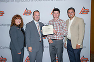 Freshmen and Transfer Student scholarship reception.<br /> Ag Centennial Scholarship presented to Hunter Miller