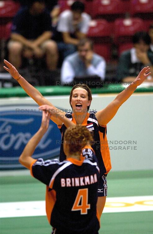 18-06-2000 JAP: OKT Volleybal 2000, Tokyo<br /> Nederland - China 3-0 / Elles Leferink