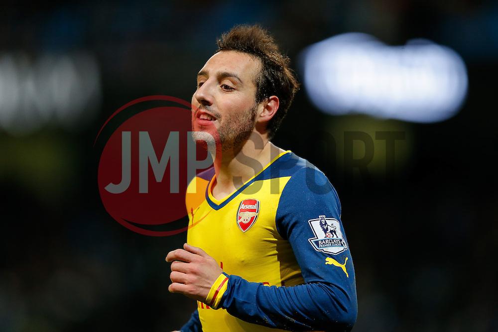 Santi Cazorla of Arsenal looks on - Photo mandatory by-line: Rogan Thomson/JMP - 07966 386802 - 18/01/2015 - SPORT - FOOTBALL - Manchester, England - Etihad Stadium - Manchester City v Arsenal - Barclays Premier League.
