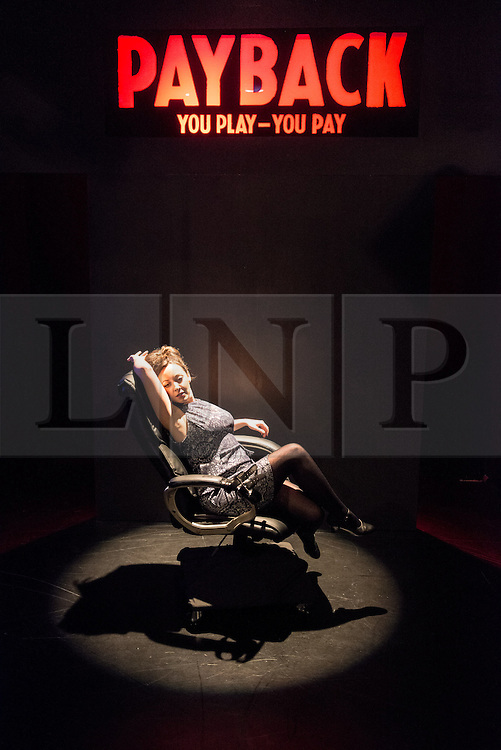 © Licensed to London News Pictures. 13/06/2013. PAYBACK:The Musical, at Riverside Studios, Hammersmith, London. Starring Olivier Award winner Matthew White. Written by Paul Rayfield. Directed and Developed by Simon Greiff. Picture features: Sarah Earnshaw (Sam). Photo credit: Tony Nandi/LNP