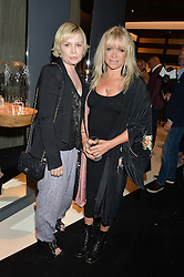 Left to right, FLORA STARKEY and JO WOOD at a party to celebrate the opening of the jeweller Ara Vartanian's Flagship Store 44 Bruton Place, London on 7th September 2016.