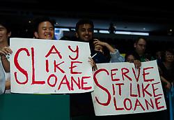 October 25, 2018 - Kallang, SINGAPORE - Sloane Stephens Fans at the 2018 WTA Finals tennis tournament (Credit Image: © AFP7 via ZUMA Wire)