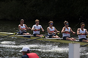 """Henley on Thames, United Kingdom, 4th July 2018, Wednesday, View, Heat of the """"Temple Challenge Cup"""", Orange Coast College, USA, first day of the annual,  """"Henley Royal Regatta"""", Henley Reach, River Thames, Thames Valley, England,© Peter SPURRIER/Alamy Live News,"""