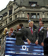 Tel + 441494783165 email images@Intersport-images.com.08/12/2003 - Photo  Peter Spurrier.England World Cup Rugby Team Victory Parade - Central London Oxford Circus.   [Mandatory Credit, Peter Spurier/ Intersport Images].