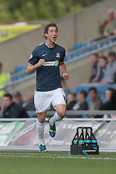 Southend United's Luke Prosser scores Southend's second goal - Photo mandatory by-line: Nigel Pitts-Drake/JMP - Tel: Mobile: 07966 386802 05/10/2013 - SPORT - FOOTBALL - Kassam Stadium - Oxford - Oxford United v Southend United - Sky Bet League 2