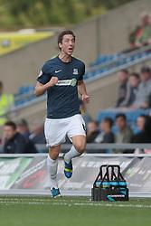 Southend United's Luke Prosser scores Southend's second goal - Photo mandatory by-line: Nigel Pitts-Drake/JMP - Tel: Mobile: 07966 386802 05/10/2013 - SPORT - FOOTBALL - Kassam Stadium - Oxford - Oxford United v Southend United - Sky Bet League 2