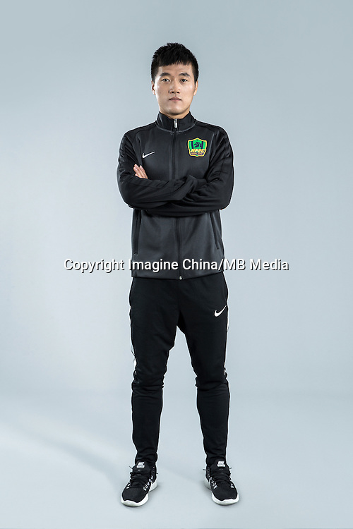 Portrait of Chinese soccer player Tang Xin of Guizhou Hengfeng Zhicheng F.C. for the 2017 Chinese Football Association Super League, in Guiyang city, southwest China's Guizhou province, 23 February 2017.