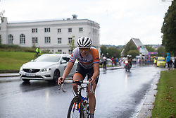 Lucinda Brand (NED) of Rabo-Liv Cycling Team heads out for the last lap of the 97,1 km second stage of the 2016 Ladies' Tour of Norway women's road cycling race on August 13, 2016 between Mysen and Sarpsborg, Norway. (Photo by Balint Hamvas/Velofocus)
