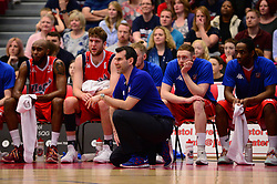 Bristol Flyers head coach, Andreas Kapoulas - Photo mandatory by-line: Dougie Allward/JMP - 01/04/2017 - BASKETBALL - SGS Wise Arena - Bristol, England - Bristol Flyers v Leeds Force - British Basketball League