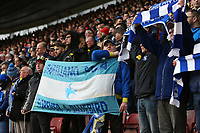 Football - 2018 / 2019 Premier League - Southampton vs. Cardiff City<br /> <br /> Cardiff fans observe a minutes silence before kick off in in tribute to Emiliano Sala at St Mary's Stadium Southampton<br /> <br /> COLORSPORT/SHAUN BOGGUST
