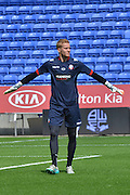 Ben Amos warms up  during the Sky Bet Championship match between Bolton Wanderers and Derby County at the Macron Stadium, Bolton, England on 8 August 2015. Photo by Mark Pollitt.