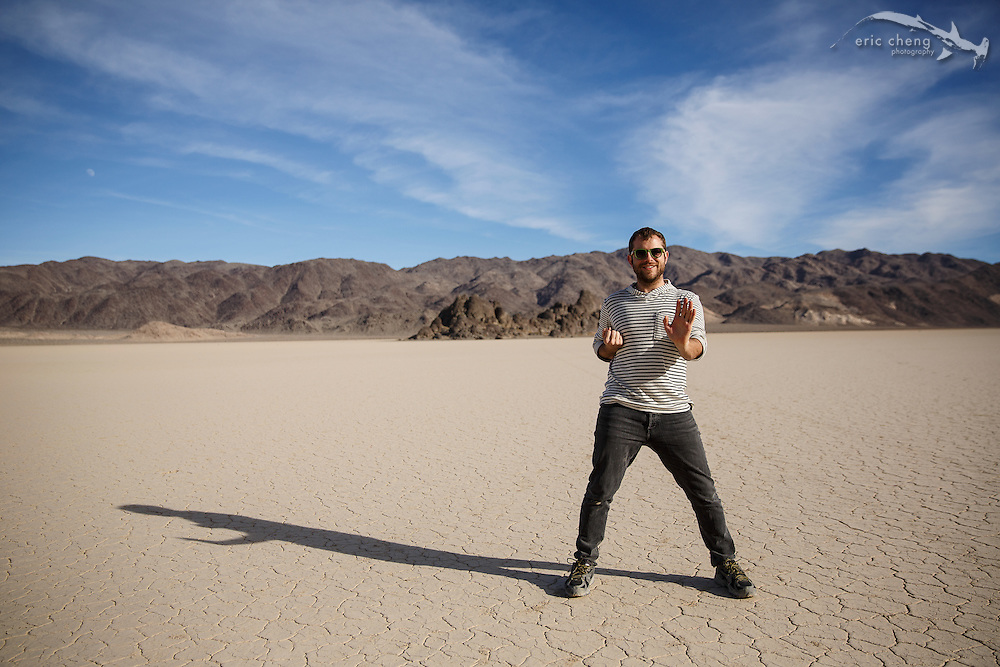 Dan Kitchens at The Racetrack, Death Valley, California
