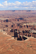 Canyon Lands National Park extends out to the horizon.<br />