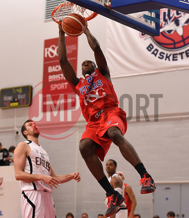 Tyrone Lee of Bristol Flyers scores a basket  - Photo mandatory by-line: Joe Meredith/JMP - Mobile: 07966 386802 - 10/10/2015 - BASKETBALL - SGS Wise Arena - Bristol, England - Bristol Flyers v Newcastle Eagles - British Basketball League