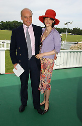 NICHOLAS & GEORGINA COLERIDGE he is MD of Conde Nast at the Queen's Cup polo final sponsored by Cartier at Guards Polo Club, Smith's Lawn, Windsor Great Park on 18th June 2006.  The Final was between Dubai and the Broncos polo teams with Dubai winning.<br /><br />NON EXCLUSIVE - WORLD RIGHTS