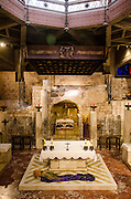 Israel, Nazareth, Basilica of the Annunciation, the grotto