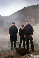 Members of the German Piraten Partei by Seltún Geothermal area at Reykjanes Peninsula, Iceland.