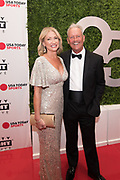 George Brett and Leslie Davenport attend the Celebrity Fight Night event on March 23, 2019 in Scottsdale, AZ.