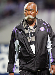 A member of the Toulouse staff with a silly moustache during the 1/4 Final of la Coupe de France, Stade Municipal, Toulouse, France, 18th March 2009.