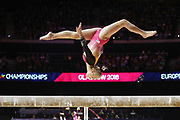 Angelina Melnikova (Russia) in the team beam event during the European Championships Glasgow 2018, Women's Artistic Gymnastics , Team Final at The SSE Hydro in Glasgow, Great Britain, Day 3, on August 4, 2018 - Photo Laurent Lairys / ProSportsImages / DPPI