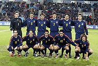 Fotballl, 19. november 2003, Play-off, Norge-Spania 0-3,  Team Spania: Casillas, Salgado, Cesar, Albelda, Puyol, Helguera, Raul, Alonso, Valeron, Vicente, Etxeberria