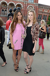Left to right, ZARA MARTIN and LAURA CARMICHAEL at the opening of Club To Catwalk: London Fashion In The 1980's an exhibition at The V&A Museum, London on 8th July 2013.