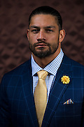 Roman Reigns poses for a portrait ahead of WrestleMania on April 1, 2016 in Dallas, Texas.