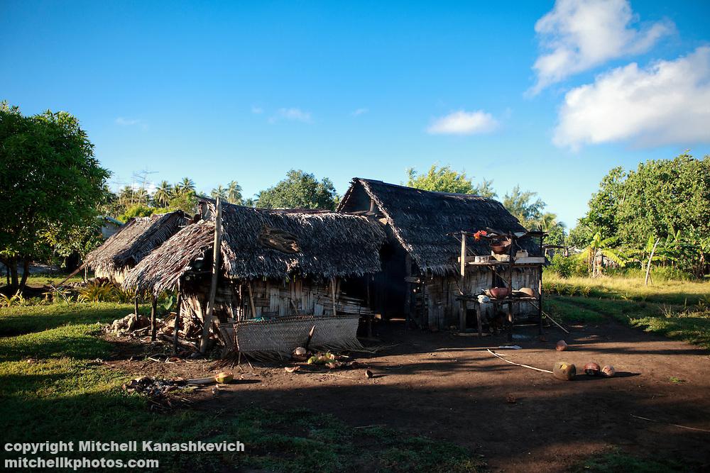 Traditional homes on Uleveo/Maskelyne Island, Malampa Province, Malekula, Vanuatu