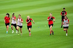 Loren Dykes, Katie Robinson, Jasmine Matthews,  - Ryan Hiscott/JMP - 08/08/2019 - SPORT - Stoke Gifford Stadium - Bristol, England - Bristol City Women Training