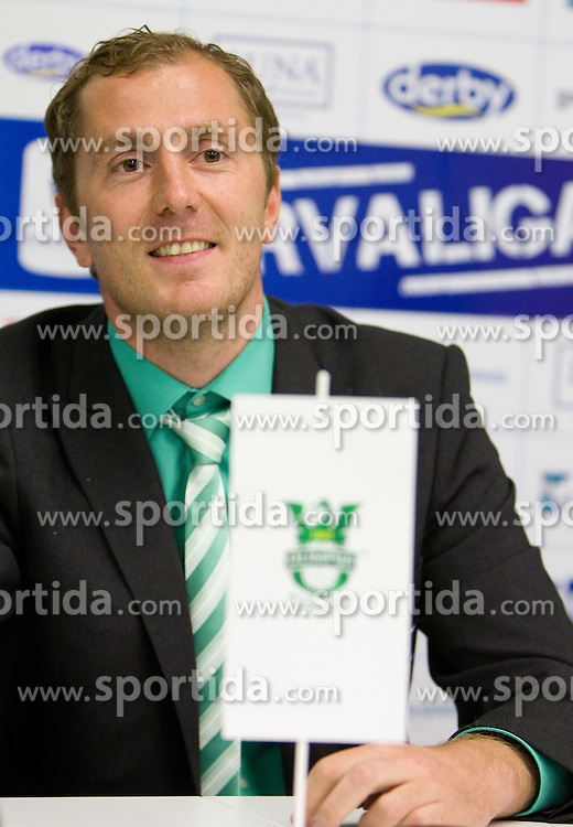 Sanel Konjevic of Olimpija during the press conference after the football match between NK Olimpija and HIT Gorica, played in the 11th Round of Prva liga football league 2010 - 2011, on September 25, 2010, SRC Stozice, Ljubljana, Slovenia. (Photo by Vid Ponikvar / Sportida)