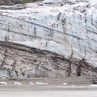 Details of beautiful Lamplugh Glacier, located in Glacier Bay National Park, Alaska