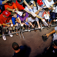 Alex Rodriguez walks to the clubhouse ignoring fans clamoring for his autograph following a game on his rehab assignment with the Trenton Thunder at the Reading Phillies AA FirstEnergy Stadium in Reading, PA on July 16, 2013.  He finished the game 0-4.